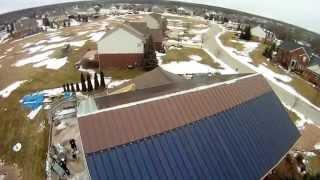 Drone Overhead Net-Zero House