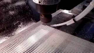 CNC Cutting 16 Gauge Slots in Acylic Boyce Box HHO