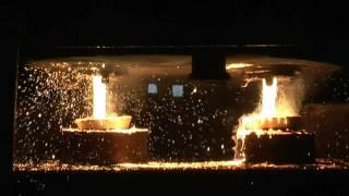 The production process of a steel casting