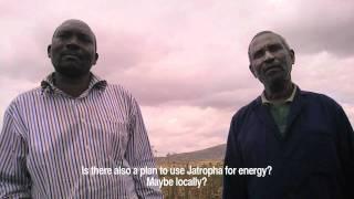 Both ENDS talks with Tanzanian Jatropha farmer