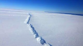 West Antarctic ice shelf breaking up from the inside out!