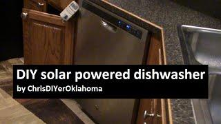 DIY solar powered dishwasher: wired into my solar power transfer panel circuit!