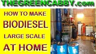 HOW TO MAKE BIODIESEL LARGE SCALE AT HOME - BIOFUEL - METHANOL DISTILLATION - GLYCERIN FOR SOAP