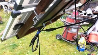 A look at my diy solar panel tracking contraption..