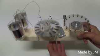 Toepler-Holtz electrostatic generator replica