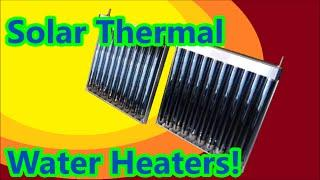 Solar Thermal Water Heater Evacuated Tubes Review Assembly Unboxing