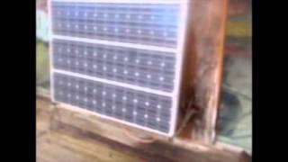 Hooking up the solar panels, Edison batery, and starts wiring 12v ligh