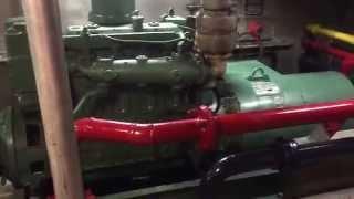 Crewboat Engine Room and Generator Room Tour