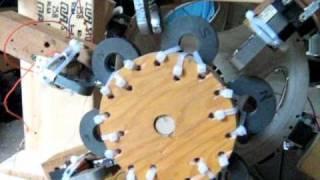 Bedini Wheel - 7 Coiler - Plus Generator Setup