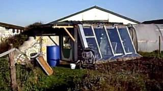 Earthship passive solar greenhouse Autumn 2011.AVI