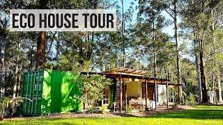 SHIPPING CONTAINER HOUSE TOUR | ECO FRIENDLY OFF GRID
