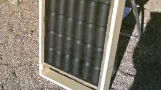 "Homemade Solar Air Heater! - DIY ""soda/pop can"" Air Heater!- 150F+ Temps. (Quickview)"