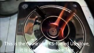 palm kernel shell burnt in UB/Prime stove