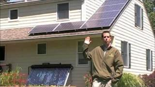 Installation of a Sunmaxx Solar Thermal Hot Water 30 Evacuated Tube NJ New Jersey Part 1