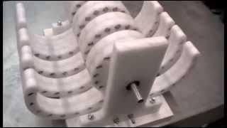 Versuche mit Wasif Kahloon Magnetmotor 2