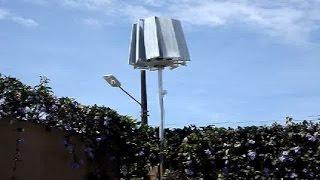 How to build a homemade V.A.W.T. Vertical Axis Wind Turbine