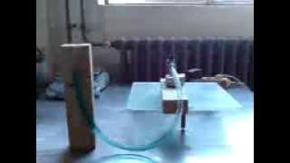 Lamina flow Stirling engine with liquid piston (part3 - wide PVC tube)