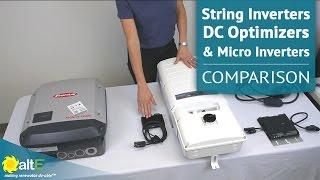 String Inverters, DC Optimizers & Micro Inverters | Comparison & Overview of 3 Grid Tie Inverters