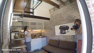 San Francisco brick boiler room turned industrial tiny house