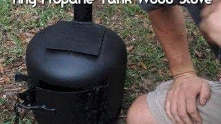Tiny Wood Stove Made From A Propane Tank