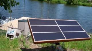 Solar Tracker Close up of control system