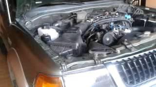 Hydrogen Fuel Vaporizer on a  1997 Mitsubishi Montero, 3000 cc gasoline engine