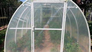Easy way to build PVC greenhouse DIY