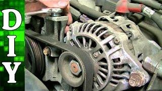 Subaru 2.5L Alternator, Power Steering Pump and AC Compressor Belt Replacement
