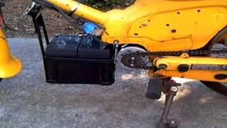 Electric motorcycle, EV conversion, Battery mount