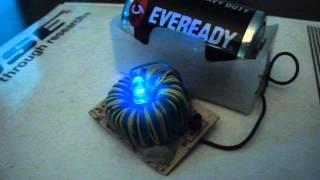 Joule Thief  Powered Single Flashing RGB LED