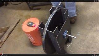 New Tesla turbine model, compressed air first run