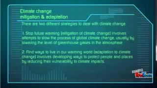 GLOBAL DIMMING? climate change mitigation and adap