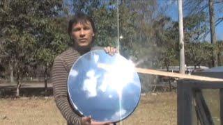 Solar Quot Death Ray Quot Parabolic Dish Mirror Paraboloid
