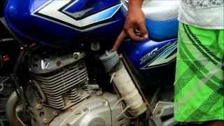 Motorbike hydrogen HHO reduce pollution and consuption, Bali