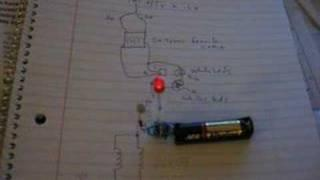 Joule Thief Circuit LED Blinks