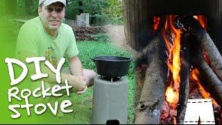 How To Make A DIY Concrete Rocket Stove