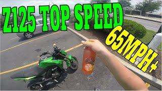 Z125 PRO TOP SPEED RUN, Forgot to Knock on Wood