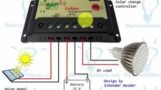 How to connect solar panel to battery || And solar charge controller || Hindi/Urdu