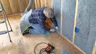 Install Cut Ultratouch Denim Insulation The Easy Way - No Tools Required