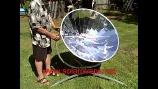 Sun Parabolic Solar Cooker - WWW.SOLAROVENS.NET