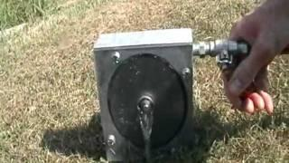Tesla turbine powered by water