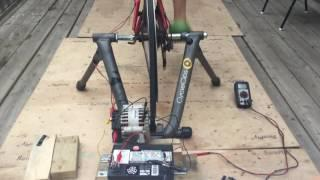 Pedal Powered Generator Demo