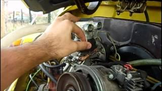 Attempt to run a car engine on DIESEL mist