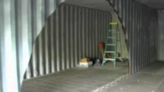 Man Converts Two Shipping Containers to Off-Grid Self-Sustained Cabin