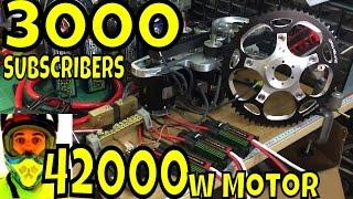 3000 SUBSCRIBERS, what's coming next? 42000w EV / supercapacitors / 2000w LED ebike light
