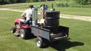 Wood gas lawn mower