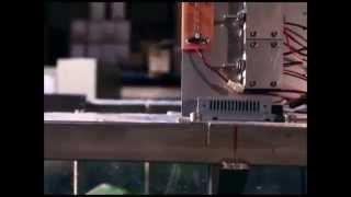 Ocean Energy - Small scale wave power generation test in water tank