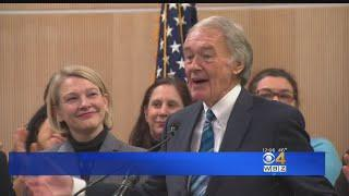 Sen. Ed Markey Presents Green New Deal In Cambridge