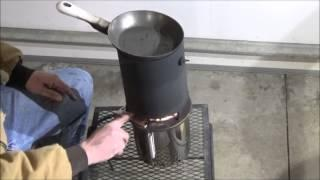 DIY how to candle powered heater gasifier ON STEROIDS stove combination fast easy