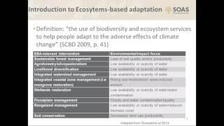 Ecosystems-based adaptation: are we being conned?, SEED, SOAS University of London